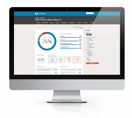 Employee Engagement Survey Company Online Reporting Tool Software