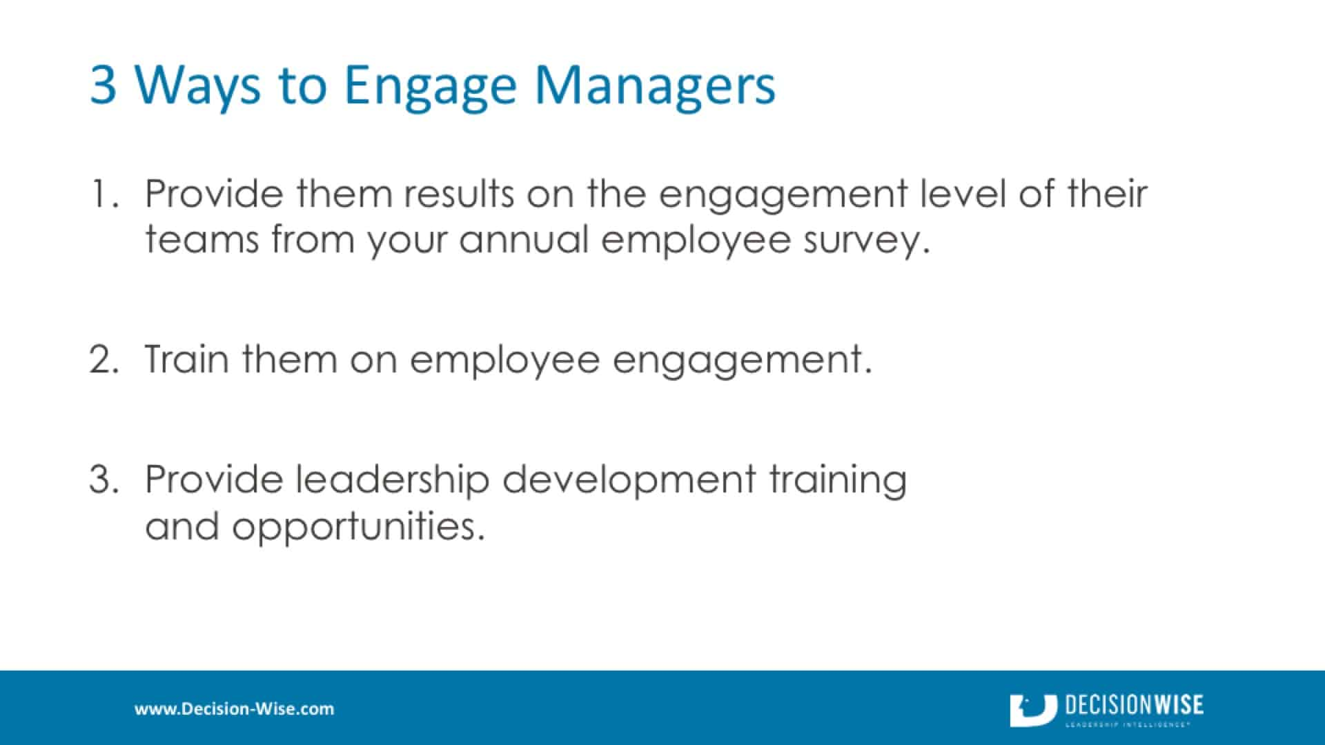 3 Ways to Engage Managers