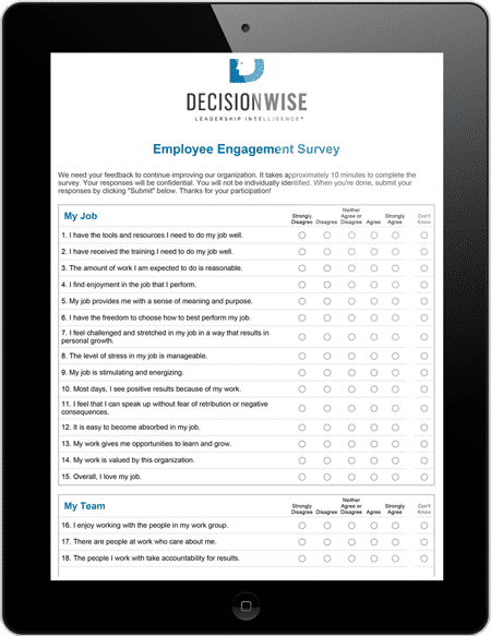 Wonderful EMPLOYEE ENGAGEMENT SURVEY